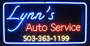 Automotive neon sign